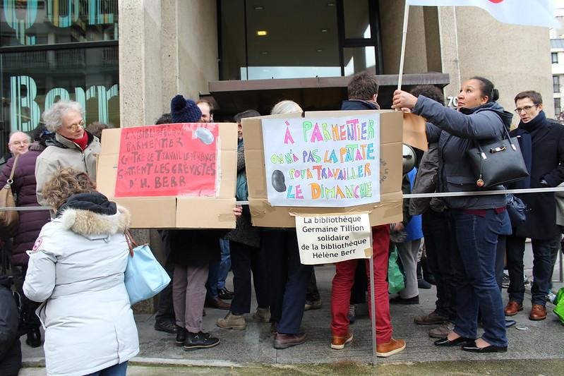 Les bibliothèques de Paris en Grève
