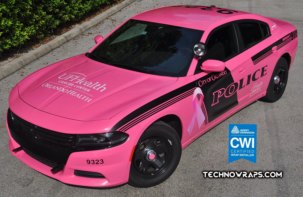 Pink Dodge Charger police car wrap in Orlando | October is B… | Flickr