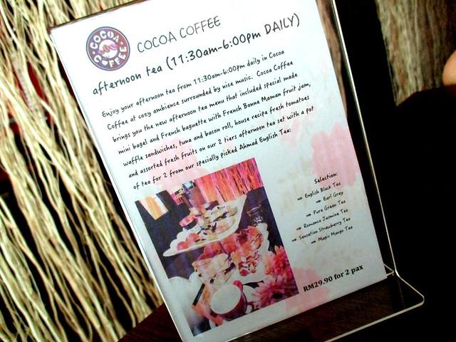Cocoa Coffee afternoon tea set