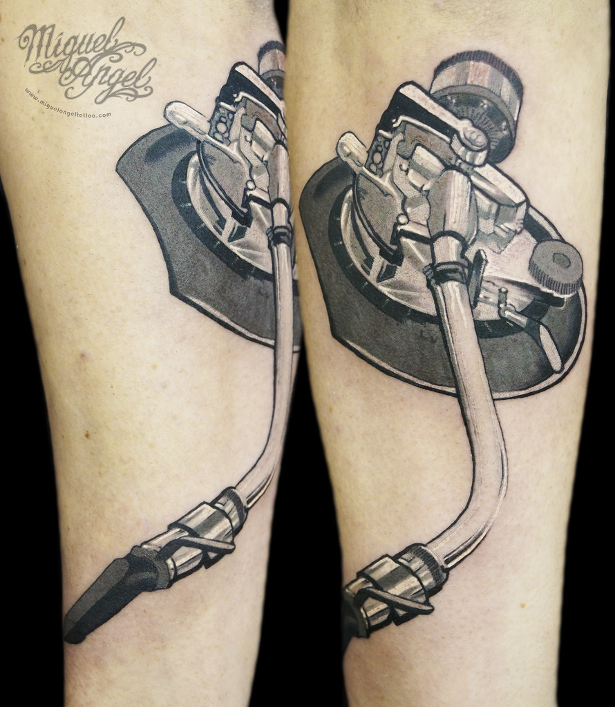Technics Turntable Arm Tattoo