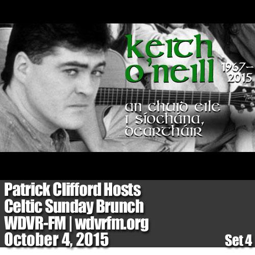 Patrick Clifford Hosts Celtic Sunday Brunch on WDVR-FM,  October 4, 2015