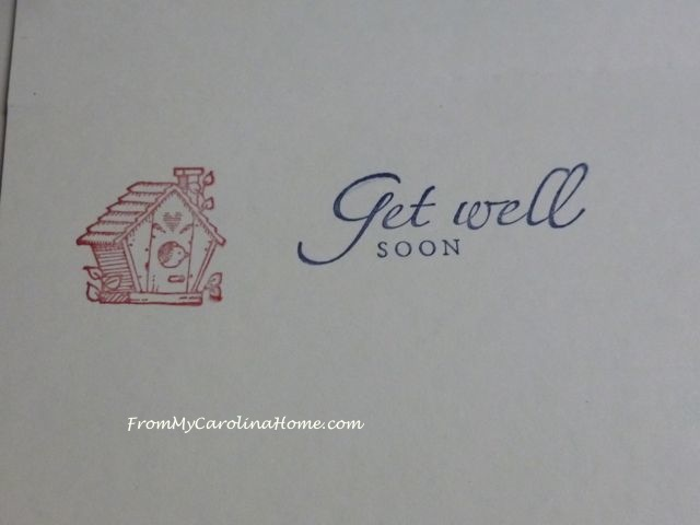 Get Well Cards ~ From My Carolina Home