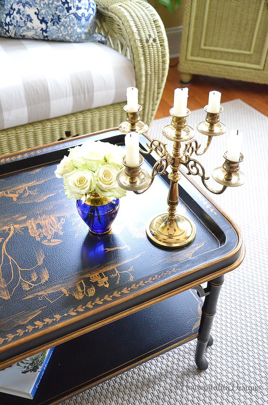 Chinoiserie Table-Brass Candelabra-Housepitality Designs