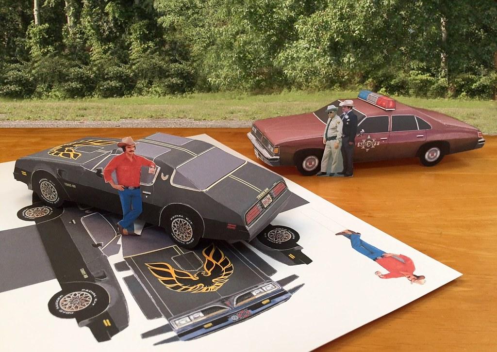 Papercraft Smokey and the Bandit cars | Ebay item: www.ebay.… | Flickr
