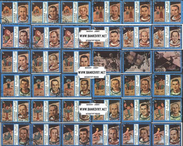 Známky Sharjah 1972 Horoskop a astronauti, razítkovaná séria