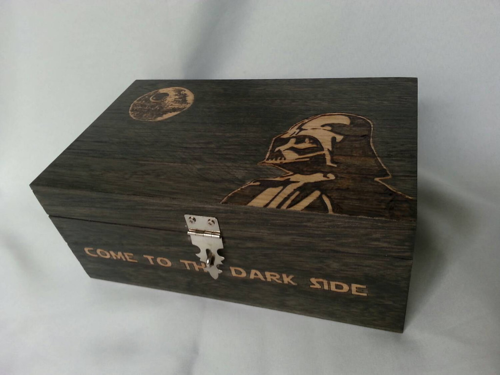 Star Wars Darth Vader woodburned keepsake box by Kathleen Kaderabek