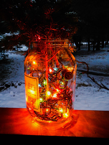 A pickle jar of Xmas lights