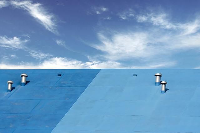 Blue roof, blue sky