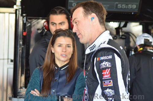 Danica Patrick and Kevin Harvick