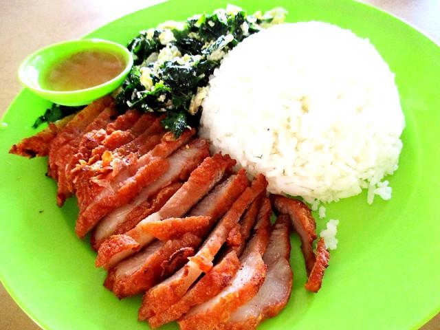 Chopsticks Foochow pork with fried cangkuk manis