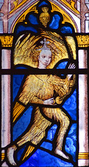 feathered angel swinging a thurible (East Anglian, 15th Century)