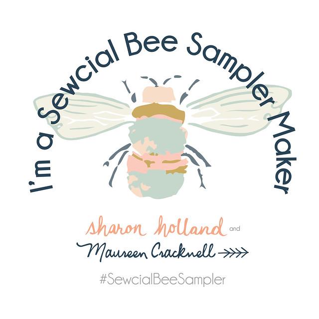 Sewcial Bee Sampler Button