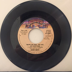 BARRY WHITE:CAN'T GET ENOUGH OF YOUR LOVE,BABE(RECORD SIDE-B)