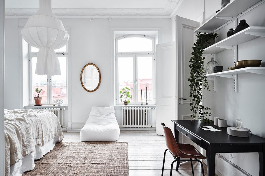 A Very White and Bright Scandinavian Home