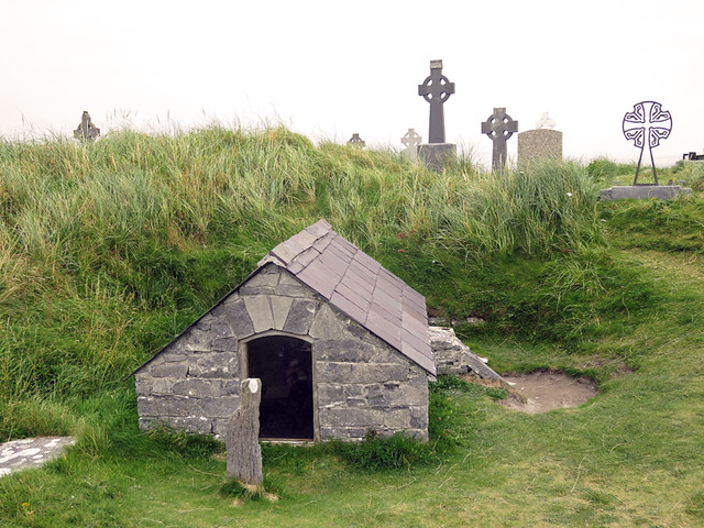 The Aran Island of Inisheer in Ireland has more rocks than just about any other place I've been to, and just about everything there is made of rocks: the cemetery