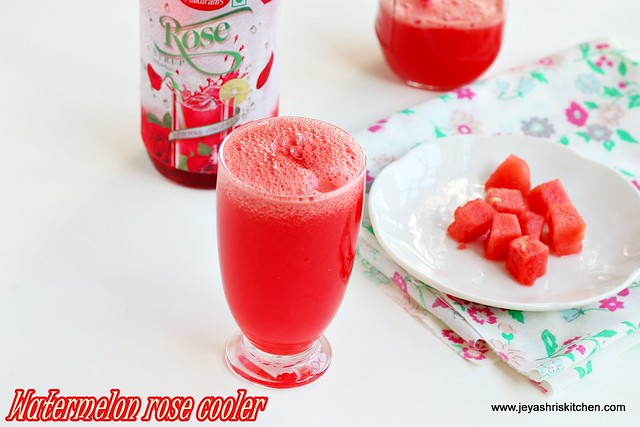 watermelon rose cooler