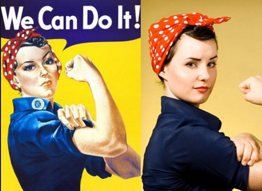 Rosie the riveter прическа