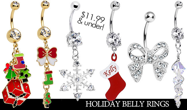 Bodycandy Holiday Belly Rings Body Candy Body Jewelry Flickr