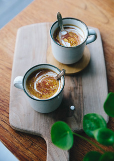 Hot Superfood Chocolate with Tahini & Turmeric | Cashew Kitchen | by cashewkitchen