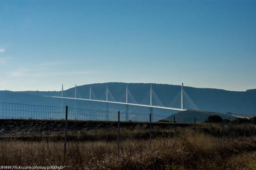 Run North Up The A75 France Over Millau Bridge