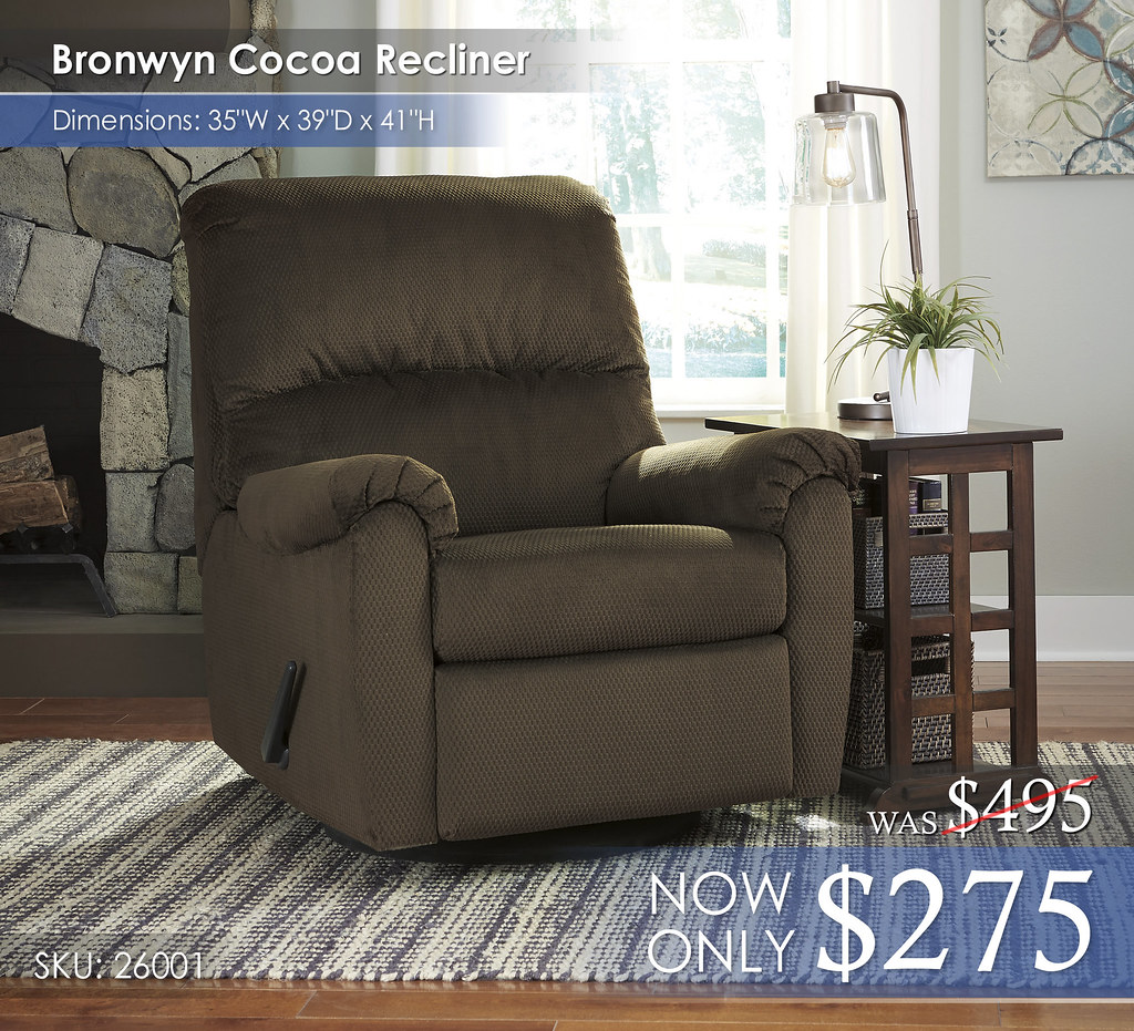 Bronwyn Cocoa Recliner 26001-61-T017-477