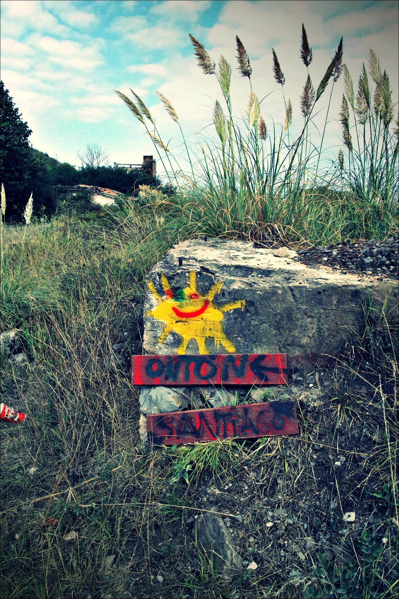 이정표-'카미노 데 산티아고 북쪽길. 포르투갈레테에서 카스트로 우르디알레스. (Camino del Norte - Portugalete to Castro Urdiales) '