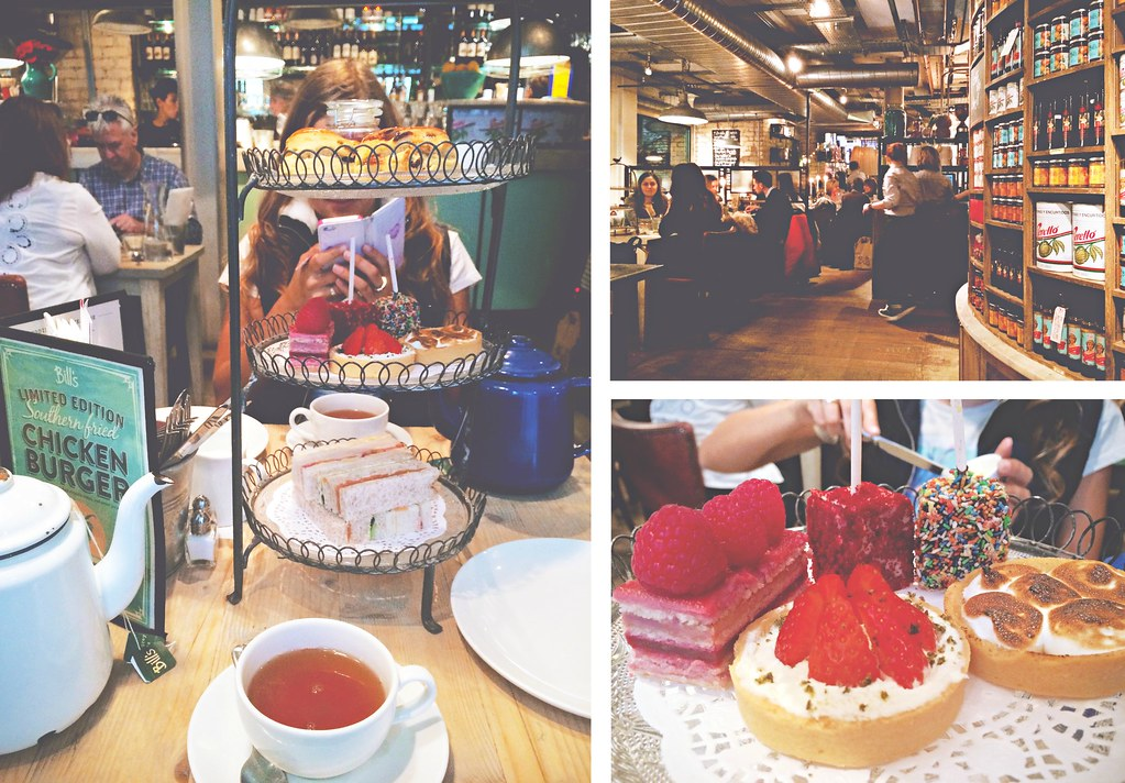 Afternoon tea at Bill's, London, England | via It's Travel O'Clock