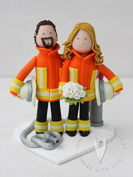 Feuerwehr Brautpaar Fur Die Hochzeitstorte Personalisierte Flickr