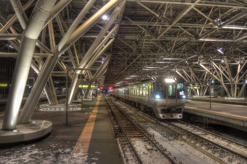 Asahikawa Station in early morning on JAN 09, 2017 (3)