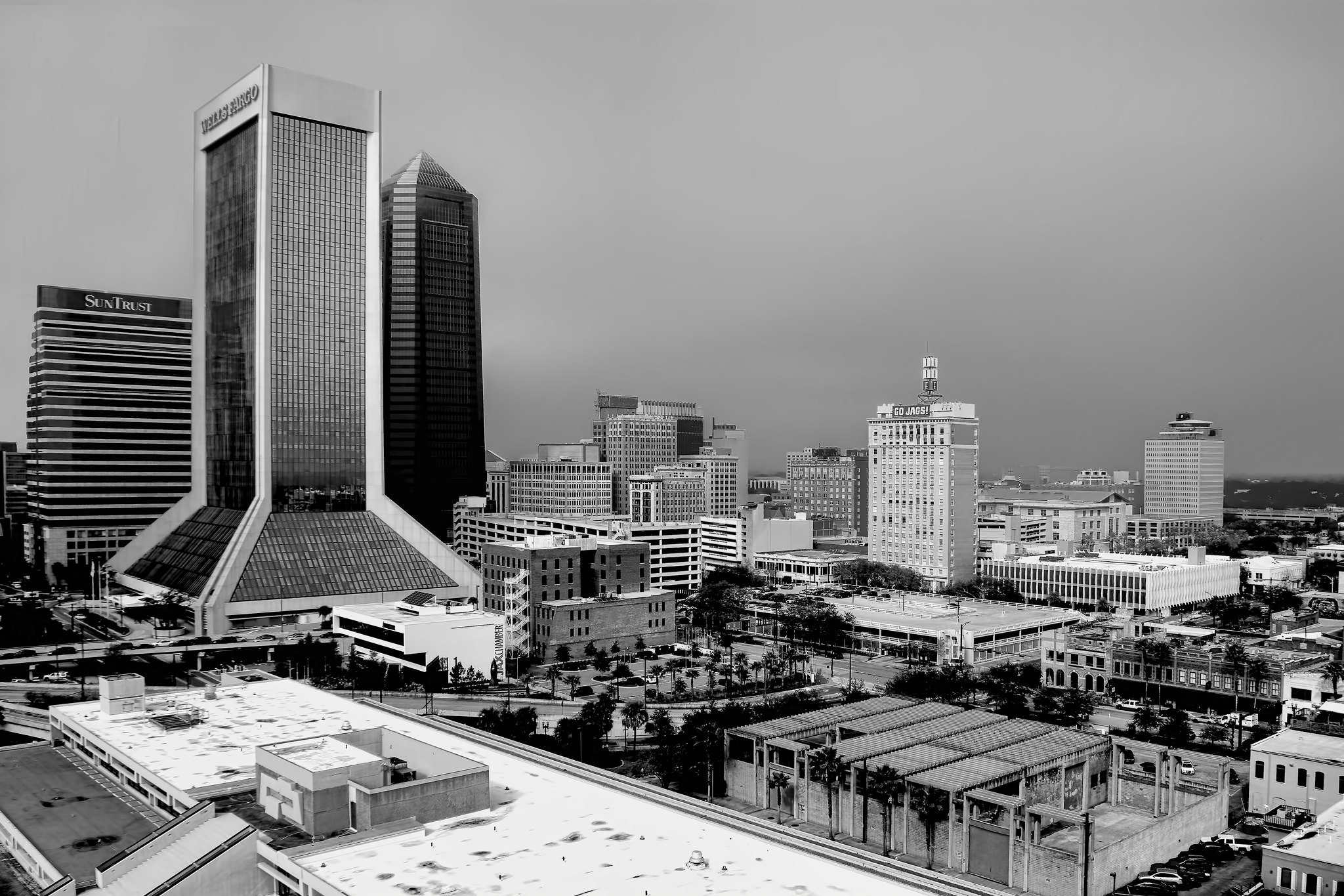View of downtown Jacksonville, Florida, USA