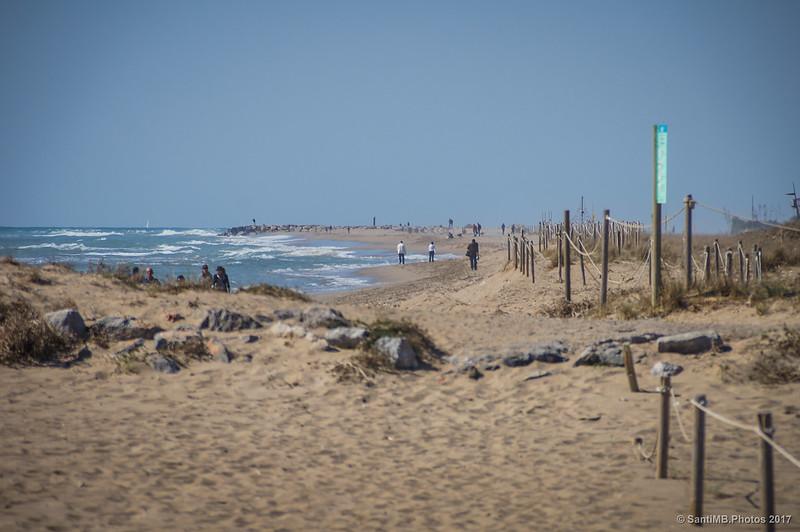 Playas de La Pineda de la La Murtra en Viladecans