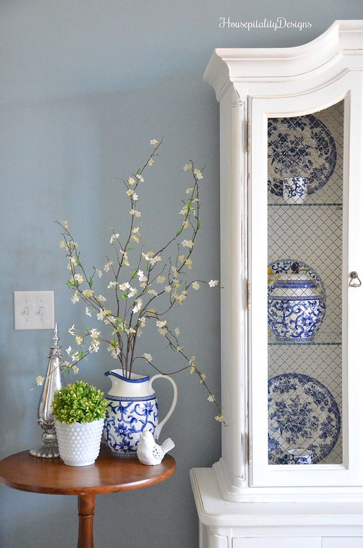 Guest Room-Hutch-Blue and White-Housepitality Designs