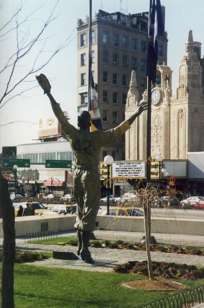 NJ - Jersey City: Journal Square - Jackie Robinson statue …   Flickr