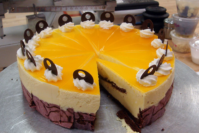 Deco Cake With Passion Fruit Bavarian And Jelly Topping By Simply Happy