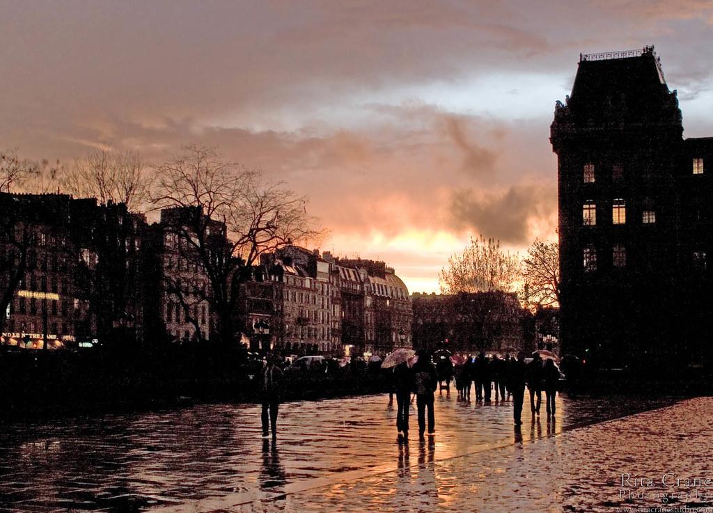 rita crane photography paris ile de la cite sunset
