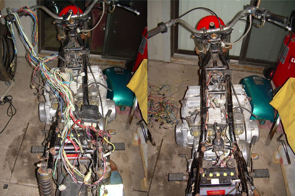 XS1100 Wiring Before and After | I dragged two old Yamaha ...