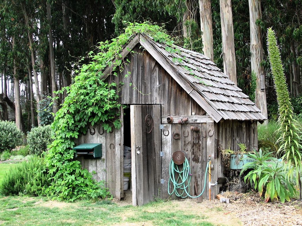Shed | An old tool shed in the vegetable garden at ...