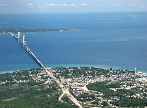 Mackinaw City and Mackinac Bridge | by rdmegr
