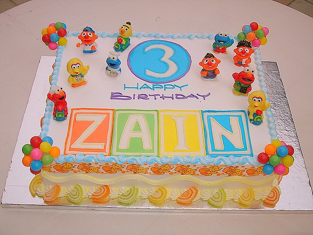 ZAINS BIRTHDAY CAKE Zain picked it up himself He chang Flickr