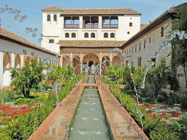 les jardins du generalife lalhambra de grenade espagne by dalbera - Jardin De L Alhambra
