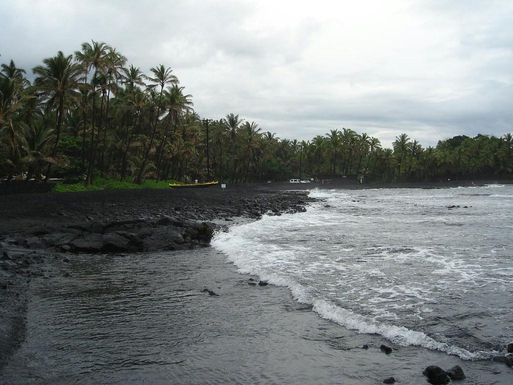 Black Sand Beach Big Island