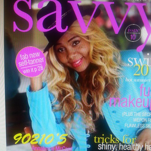 Celebrity style amp bridal expert april burns featured in savvy magazine