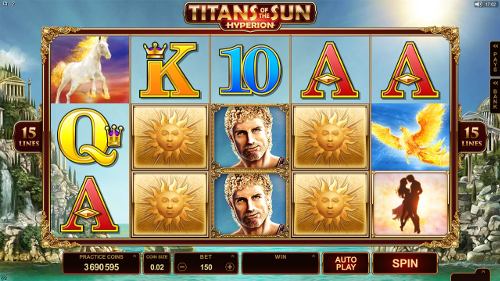 Titans of the Sun - Hyperion Slot Machine
