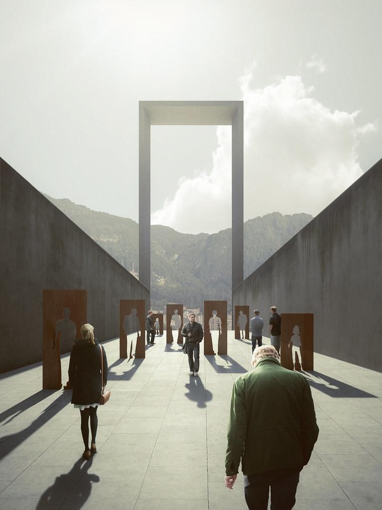 Cubierta lugar de duelo concurso museo de la memoria for Estudios de arquitectura bogota