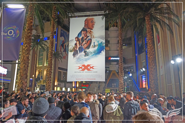 The Establishing Shot xXx RETURN OF XANDER CAGE EUROPEAN PREMIERE - RED CARPET - O2 ARENA, LONDON