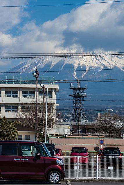 国道139号線から見える富士山