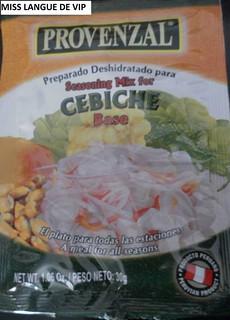 Cebiche - Provenzal