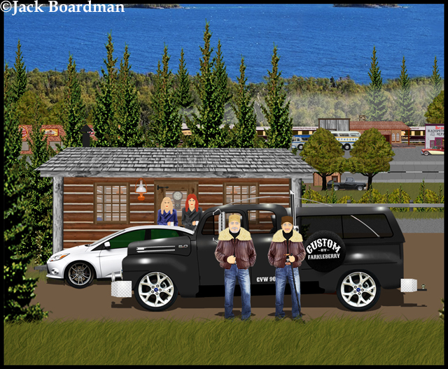 Boomer & Linda arrived at the DeSantino Cabin ©Jack Boardman
