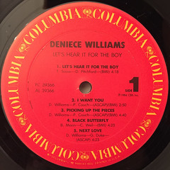 DENIECE WILLIAMS:LET'S HEAR IT FOR THE BOY(LABEL SIDE-A)