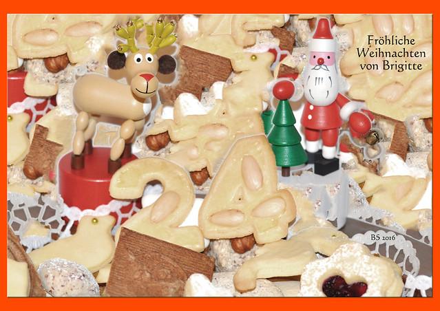 Weihnachten Weihnachtsbäckerei Weihnachtsplätzchen Bunter Weihnachtsteller ... Foto: Brigitte Stolle 2016